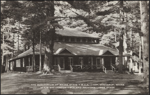 The auditorium at Maine State Y.M.C.A. Camp, Winthrop, Maine seats 300