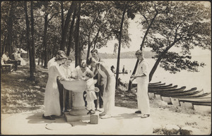 The fountain, Young Men's Christian Association Camp, Lake Geneva, Wis.