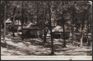 Among the tents - College Camp, Wisconsin - on Lake Geneva
