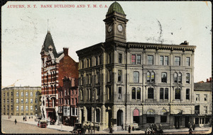 Auburn, N.Y. Bank building and Y.M.C.A.