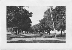 Main Street North from Congregational Parsonage