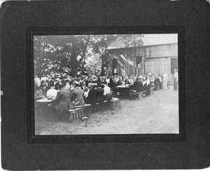 Group Eating Outdoors