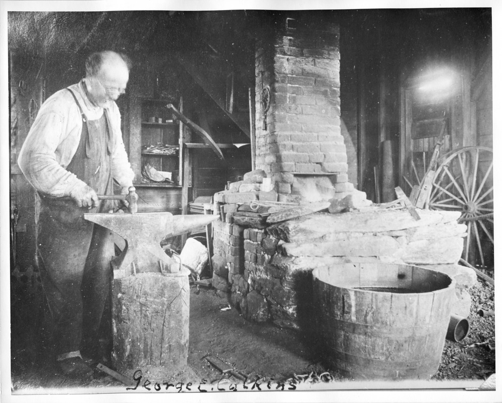 Blacksmith George Calkins at Work