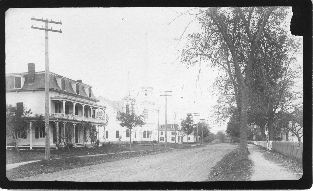 Allis Hotel, Congregational Church on Main Street Looking South