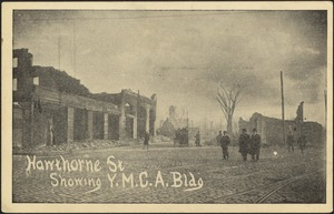 Hawthorne St showing Y.M.C.A bldg
