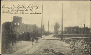 Amory and public library looking north, Catholic Church in distance