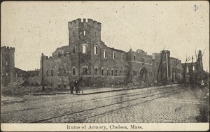 Ruins of armory, Chelsea, Mass.