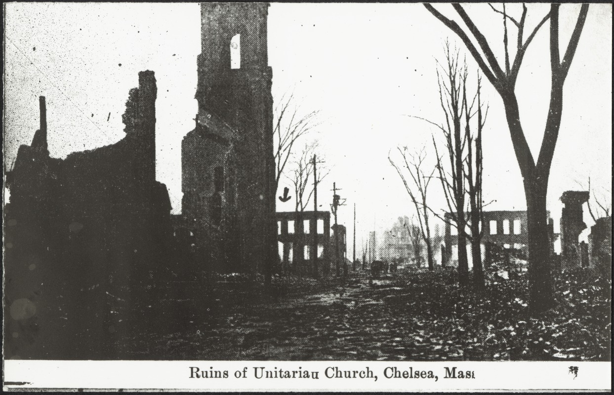Ruins of Unitarian Church, Chelsea, Mass