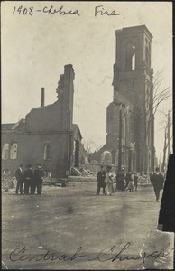 1908 Chelsea fire. Central Church