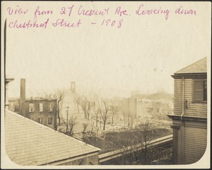 View from 27 Crescent Ave. Looking down Chestnut Street -1908