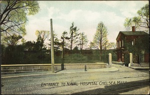 Entrance to Naval Hospital Chelsea Mass