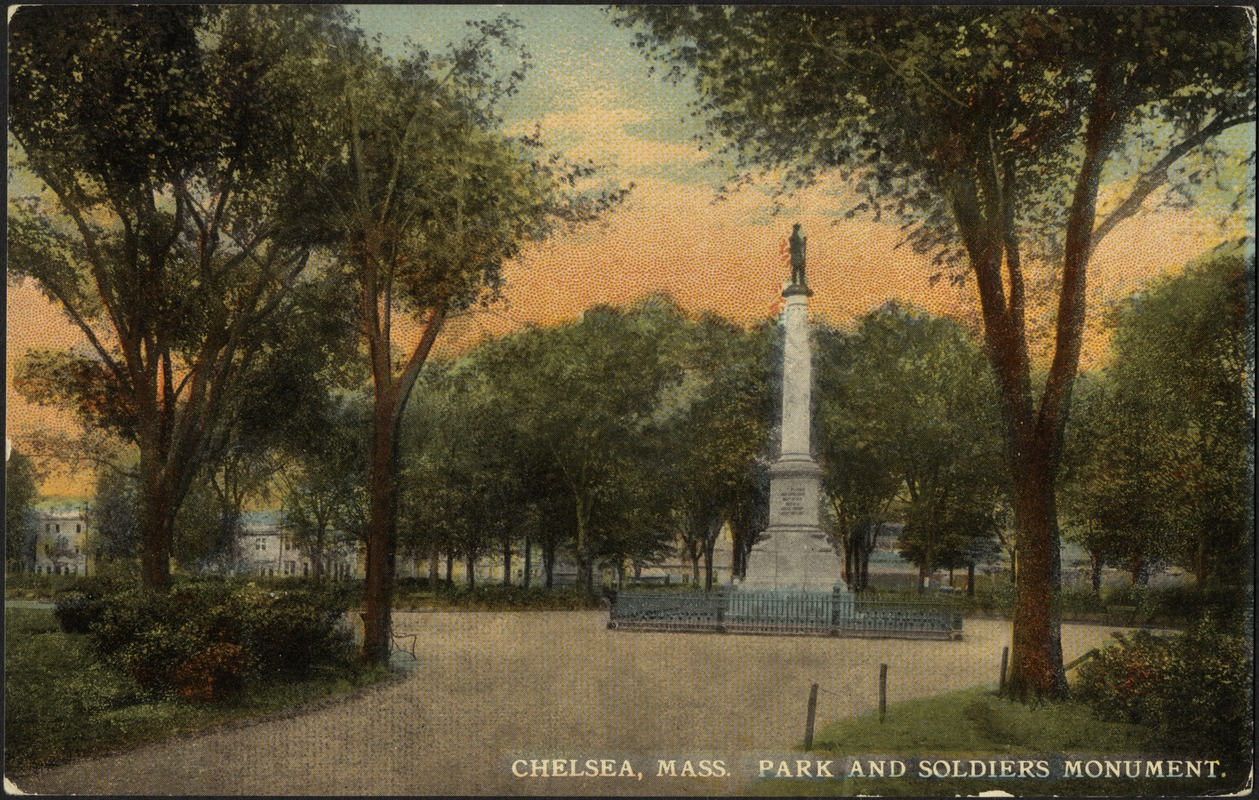 Chelsea, Mass. Park and Soldiers Monument