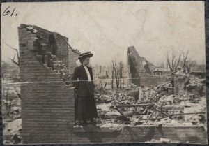 Ruins of Mrs. Bennett's house, Chelsea fire
