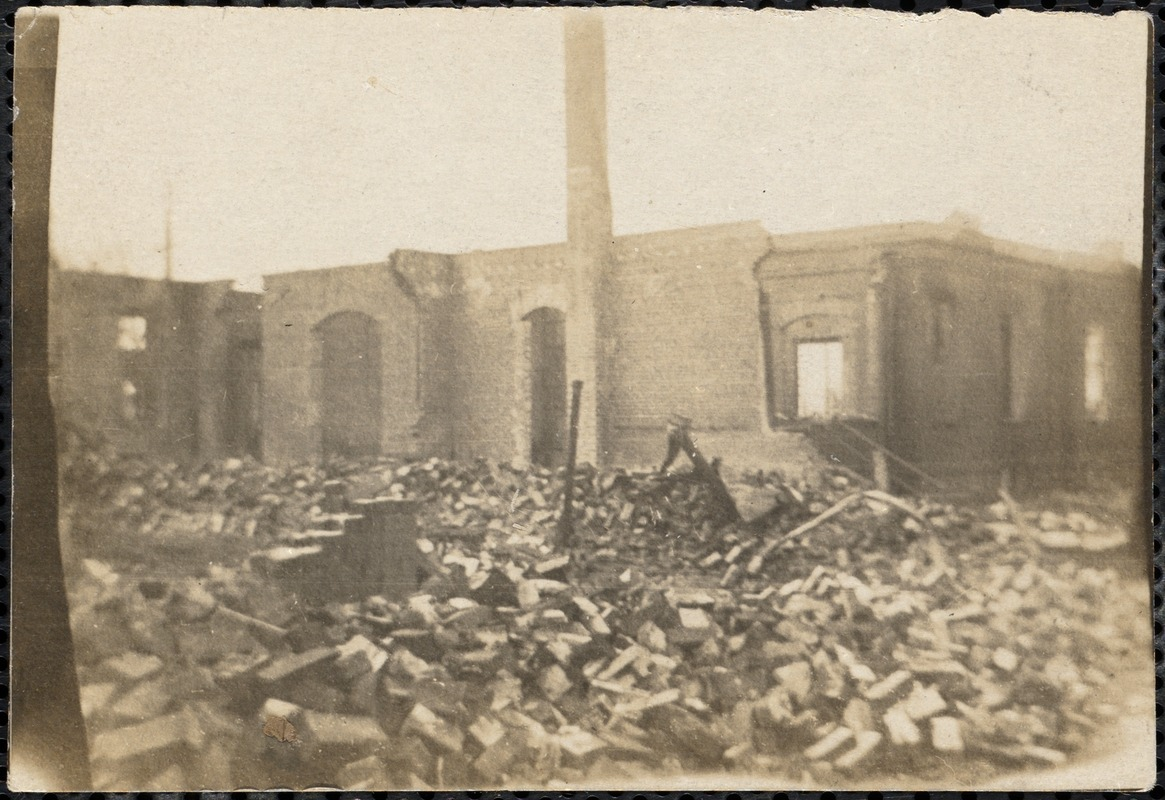 Ruins of public library
