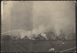 Smoldering ruins of the Great Chelsea Fire