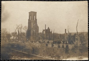 Ruins of Central Church, from Great Chelsea Fire
