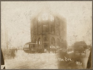 Chelsea Trust Co. bldg after the fire