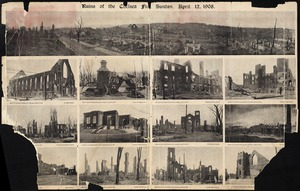 Ruins of the Chelsea Fire, Sunday, April 12, 1908