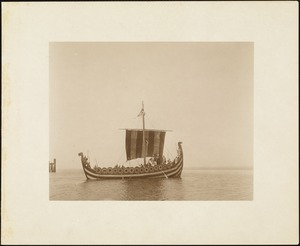 Plymouth Tercentenary Pageant, episode I, section I: the Norse galley arrives in Plymouth Harbor