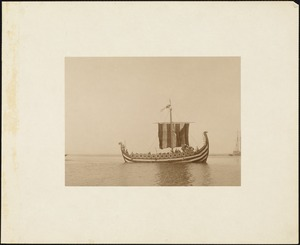 Plymouth Tercentenary Pageant, episode I, section I, the Norse galley in Plymouth Harbor