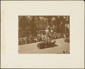 Plymouth Tercentenary celebration, parade, President Day, August 1, 1921