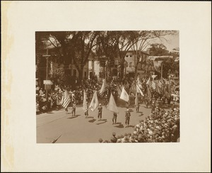 Plymouth Tercentenary celebration, parade, President Day, August 1, 1921, color guard