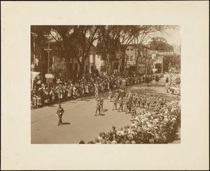Plymouth Tercentenary celebration, parade, President Day, August 1, 1921, veterans of World War I