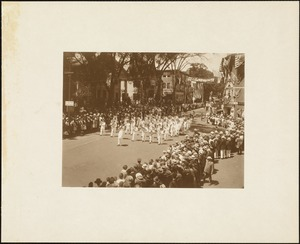 Plymouth Tercentenary celebration, parade, President Day, August 1, 1921, marching band
