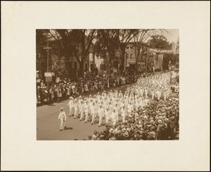 Plymouth Tercentenary celebration, parade, President Day, August 1, 1921, International Order of Oddfellows