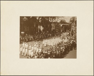 Plymouth Tercentenary celebration, parade, President Day, August 1, 1921, International Order of Oddfellows (women)