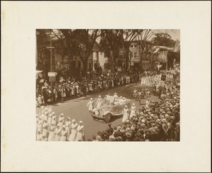 Plymouth Tercentenary celebration, parade, President Day, August 1, 1921, Mary Allerton Rebekah Lodge, Plymouth