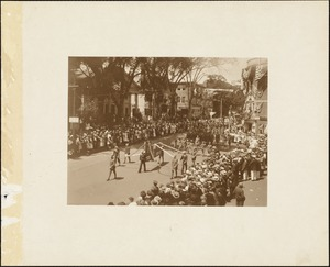 Plymouth Tercentenary celebration, parade, President Day, August 1, 1921, uniformed marchers
