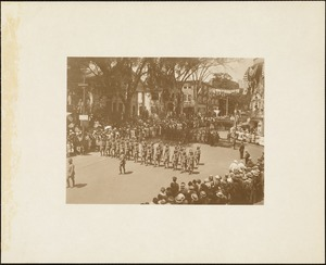 Plymouth Tercentenary celebration, parade, President Day, August 1, 1921, military marchers