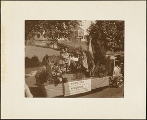 Plymouth Tercentenary celebration, parade, President Day, August 1, 1921, float by the town of Hingham
