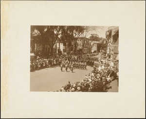 Plymouth  Tercentenary celebration, parade, President Day, August 1, 1921, unidentified marchers in uniform