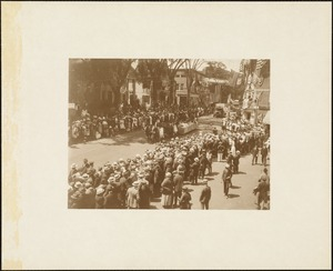 Plymouth  Tercentenary celebration, parade, President Day, August 1, 1921, unidentified horse drawn float