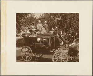 Plymouth  Tercentenary celebration, parade, President Day, August 1, 1921, Marshfield-Cohassett stage coach--1844