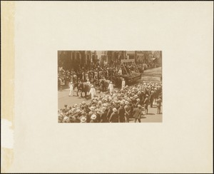 Plymouth Tercentenary celebration, parade, President Day, August 1, 1921, float by the Plymouth Cordage Company