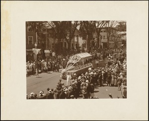 Plymouth  Tercentenary celebration, parade, President Day, August 1, 1921, unidentified float