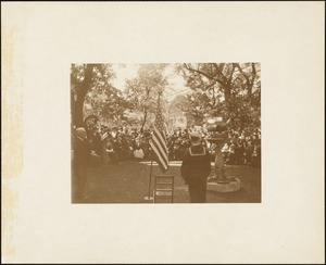 Plymouth Tercentenary celebration, September 20, 1921, dedication ceremony of Pilgrim memorial fountain