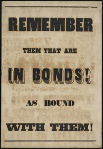 Remember them that are in bonds as bound with them.