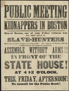 Public meeting : kidnappers in Boston