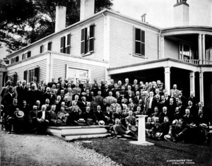 25th reunion group of Harvard class of 1880.