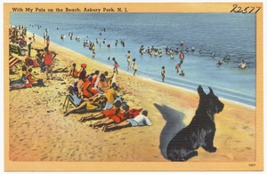 With my pals on the beach, Asbury Park, N. J.