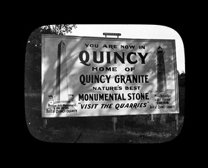 Billboard for Quincy granite