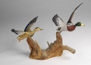 Castonguay Carved Bird Collection at West Yarmouth Library