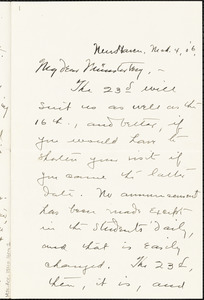 Bakewell, Charles M. (Charles Montague), 1867-1957 autograph letter signed to Hugo Münsterberg, New Haven Conn., 04 March 1906