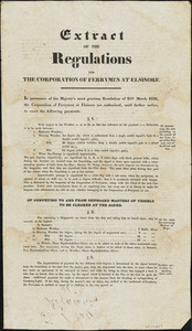 Extract of the Regulations for the corporation of Ferrymen at Elsinore