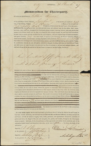 Charter agreement between Capt. D.L. Winsor and Ashley Bros. for Journey from Liverpool to Havana