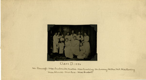 Tin type of Class D group of students